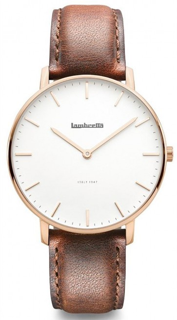 Lambretta Classico 40 Mens Gents Wrist Watch Rose Gold 2222BRO