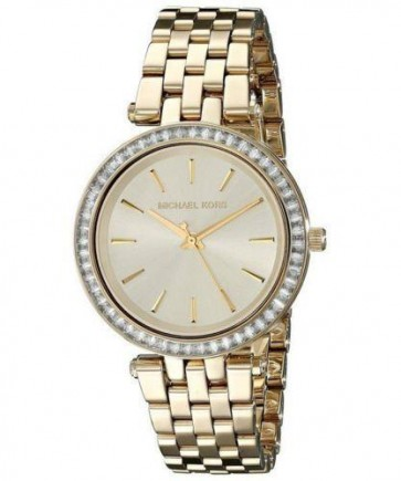 Michael Kors Ladies Mini Darci Watch Gold PVD Case and Bracelet Gold Dial MK3365