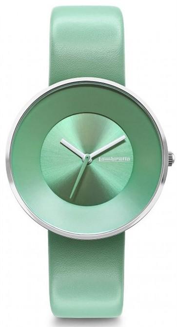 Lambretta Womens Ladies Cielo 34 Wrist Watch Green Leather Strap Face