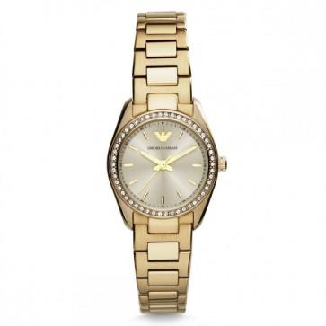 Emporio Armani Ladies Gold Case Bracelet Champagne Dial AR6031