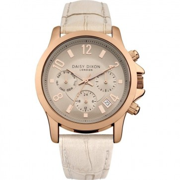 Daisy Dixon Ladies Womens Wrist Watch Gold Dial Silver Face DD002CRG