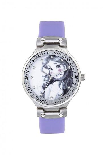 Childrens Kids Disney Princess Wrist Watch Purple Strap