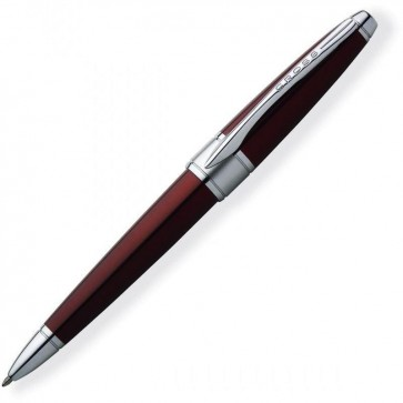 Cross Apogee Luxury Ballpoint Pen Titian Red Centre Weighted In Deluxe Gift Box