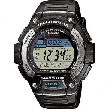 Casio Mens Solar Digital LCD Watch Chronograph Alarm Dual Time W-S220-1AVEF