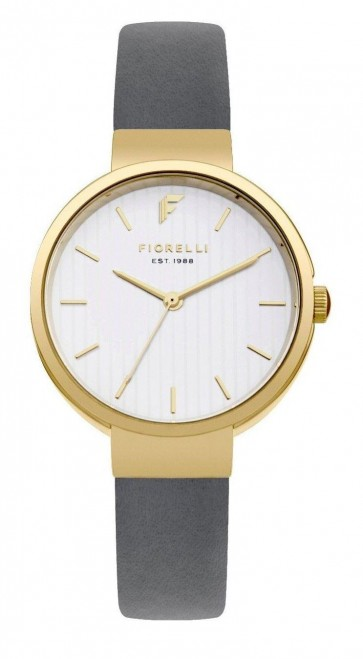 Fiorelli Womens Ladies Watch Grey Strap White Face FO035EG