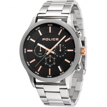 Police Mens Gents Pace Quartz Chronograph Wrist Watch Black Dial15002JS/02M
