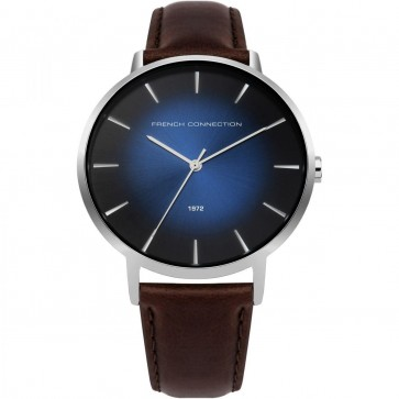 FCUK French Connection Mens Gents Wrist Watch Brown Strap FC1306UT
