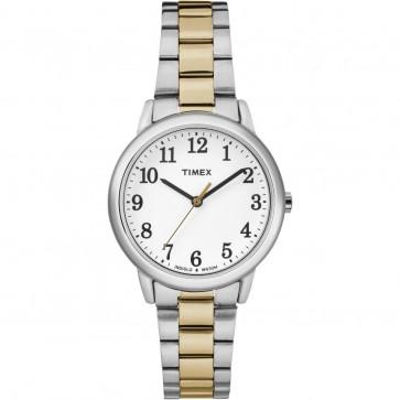 Timex Women's Ladie's Quartz Watch With Dial Two Tone Strap TW2R23900