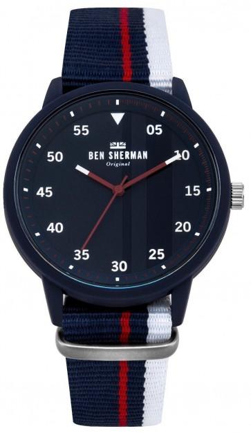 Ben Sherman Mens Carnaby Wrist Watch Blue Strap Blue Dial WB076U