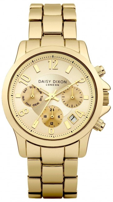 Daisy Dixon Cara Womens Ladies Wrist Watch Gold Dial Face Strap DD001GM