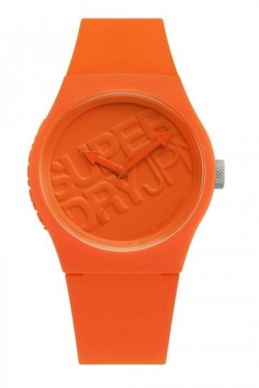 Superdry Urban Ranger Unisex Orange Wrist Watch Silicone Strap SYG015O