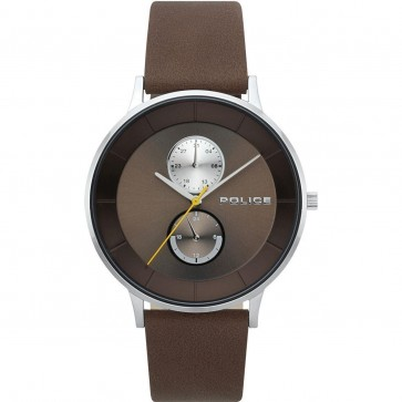 Police Gents Mens Berkley Brown Wrist Watch 15402JS/12