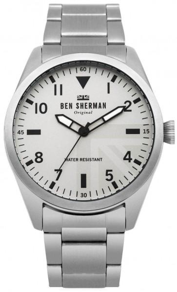 Ben Sherman Mens Carnaby Wrist Watch Silver Strap Dial WB074SM
