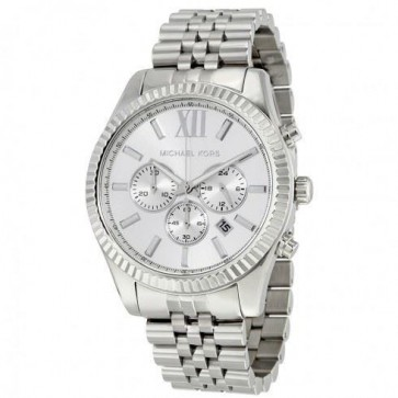 Michael Kors Ladies Lexington Chronograph Watch Stainless Steel MK8405