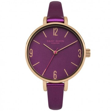 Daisy Dixon Ladies Womens Khloe Purple Wrist Watch DD060VRG