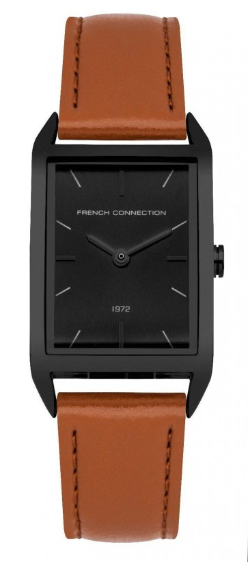 French Connection Womens Ladies Wrist Watch Square Black Face FC1296TB