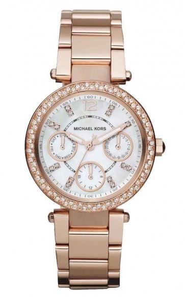 Michael Kors Rose Gold-Tone MK5616 Rose Gold Steel Bracelet & Case Women's Quartz Watch