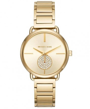 Michael Kors Portia Gold Dial Ladies Womens Stainless Steel Wrist Watch MK3639