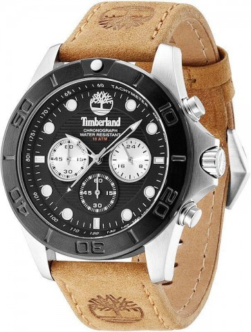 Timberland Mens Gents Quartz Watch Brown Leather Strap TBL.13909JSTB/02