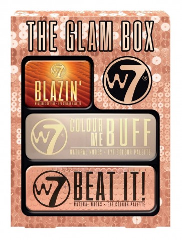 W7 The Glam Box Eye Pallett Blazin Colour Me Buff Beat It Set
