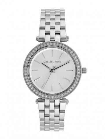 Michael Kors Ladies Mini Darci WatchStainless Steel Case and Bracelet Silver Dial MK3364