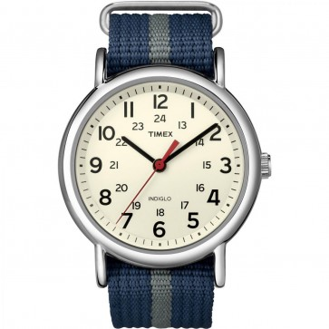 Timex Unisex Quartz Watch With White Dial T2N654
