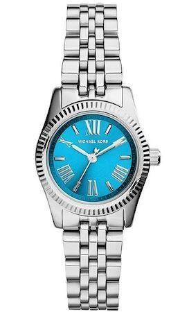 Michael Kors Ladies Watch Stainless Steel Bracelet Blue Dial MK3328