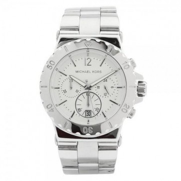 Michael Kors Dylan Ladies Chronograph Watch Stainless Steel Bracelet Silver Dial MK5312