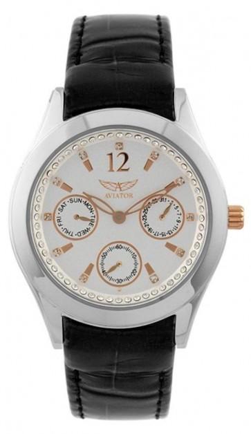 Aviator Ladies Multi Functional Diamante Wrist Watch AVW9517L83