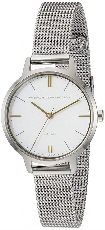 FCUK French Connection Ladies Womens Wrist Watch Silver Strap FC1255SM