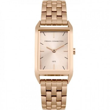 French Connection Womens Ladies Wrist Watch Rose Gold Strap FC1296RGM