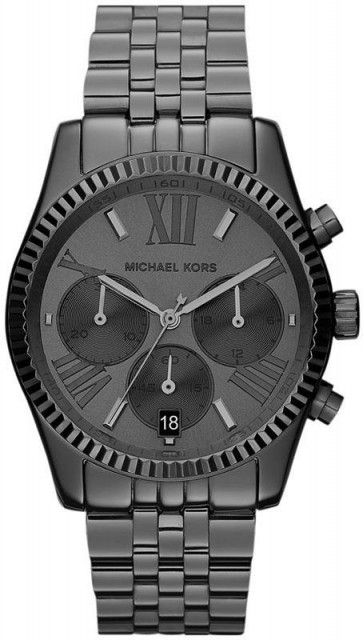 Michael Kors Lexington Ladies Chronograph Watch Stainless Steel Bracelet Silver Dial  MK5709