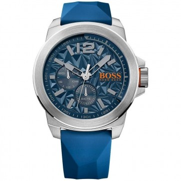 Hugo Boss Orange Mens New York Watch Blue Dial Strap 1513348