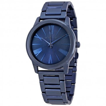 Michael Kors Hartman Womens Ladies Navy Blue Wrist Watch MK3509