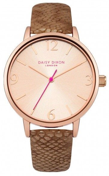 Daisy Dixon Amelia Womens Ladies Wrist Watch Rose Gold Dial DD030TRG