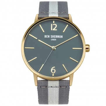 Ben Sherman Mens Watch Black Strap Black Dial WB044EGA