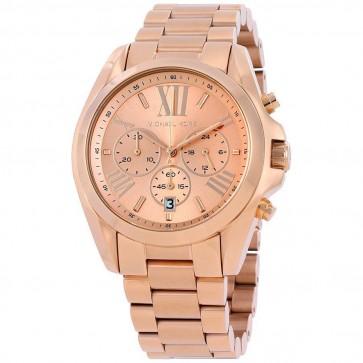 Michael Kors Ladies Bradshaw Chronograph Watch Gold Tone Strap MK5503