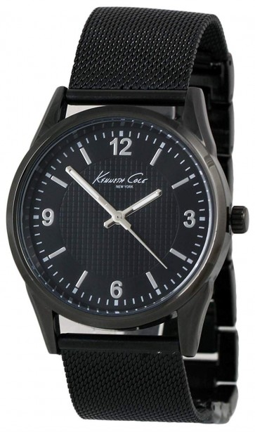 Kenneth Cole Mens Gents Black Mesh Wrist Watch KC10024821