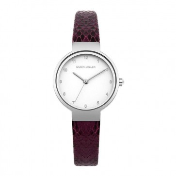 Karen Millen Womens Ladies Watch Burgundy Strap KM127VS