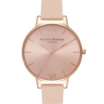 Olivia Burton Womens Ladies Big Dial Wrist Watch Rose Dial OB16BD94