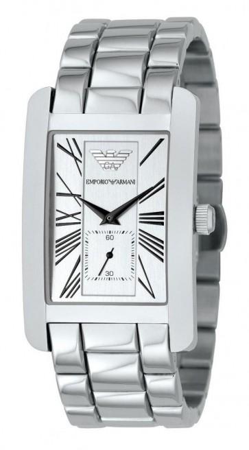 Emporio Armani Ladies Watch Stainless Steel Bracelet Silver Dial AR0146