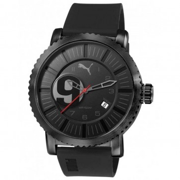 Puma Mens Watch Black Dial Black Silicone Strap PU103851002