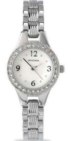 Sekonda Ladies Watch Stainless Steel Bracelet White Dial 4297