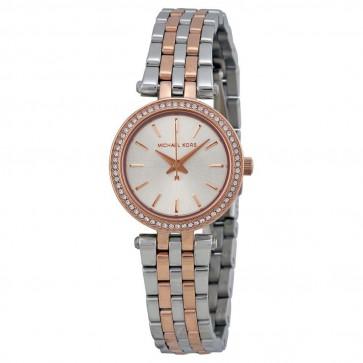 Michael Kors Ladies Mini Darci Watch Two Tone Stainless Steel Bracelet MK3298