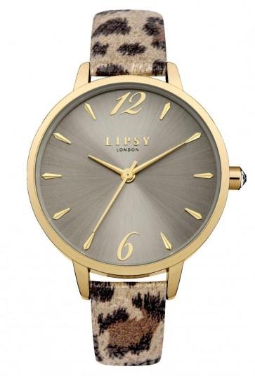 Lipsy Womens Ladies Wrist Watch Leopard Print Gold Dial LP494