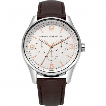 FCUK French Connection Mens Gents Brown Wrist Watch FC1307T