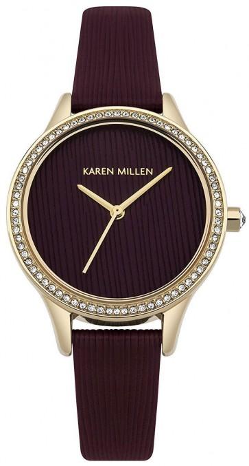Karen Millen Womens Ladies Wrist Watch With Leather Strap KM165VG