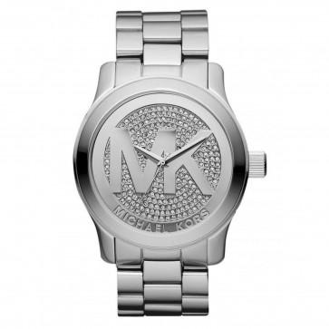 Michael Kors Runway Pave Silver Dial Bracelet Ladies Womesn Watch MK5544