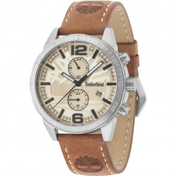 Timberland Mens Gents Sagamore Wrist Watch Brown Leather Strap 15256JS/07