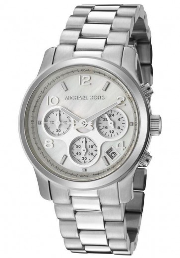 Michael Kors Ladies Runway Chronograph Watch Stainless Steel Bracelet MK5304